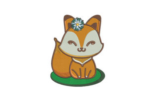 Baby Fox Baby Animals Embroidery Design By DigitEMB