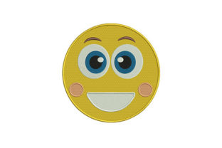 Beaming Mouth Emoji Friends Embroidery Design By DigitEMB