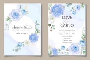 Beautiful Invitation Card Floral Frame Graphic Print Templates By dinomikael01
