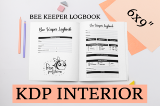 Print on Demand: Bee Keeper Logbook | KDP Interior Graphic KDP Interiors By KDP Mastermind