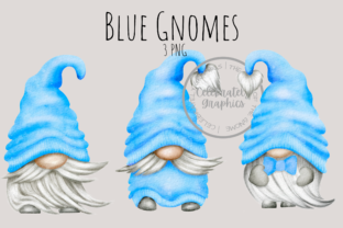 Blue Gnomes Clipart PNG Graphic Illustrations By Celebrately Graphics