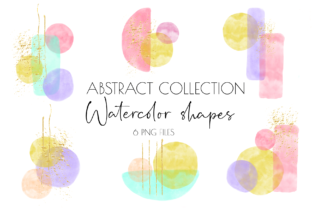 Boho Clipart,Watercolor Abstract Shapes Graphic Illustrations By watercolor bunny