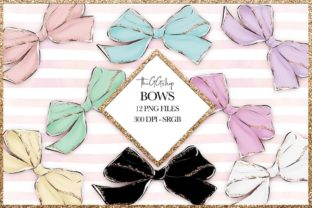 Print on Demand: Bow Planner Cliparts Set Graphic Illustrations By TheGGShop