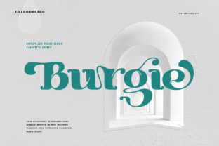 Print on Demand: Burgie Display Font By Alit Design