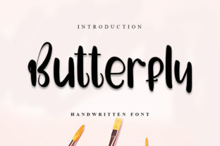 Print on Demand: Butterfly Script & Handwritten Font By K_IN Studio