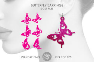Print on Demand: Butterfly Earrings SVG, Butterfly Wings Graphic 3D SVG By Artisan Craft SVG