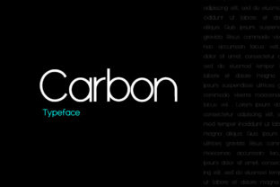 Print on Demand: Carbon Sans Serif Schriftarten von eafonts