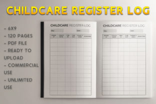 Print on Demand: Childcare Register Log KDP Template Graphic KDP Interiors By KDP Product