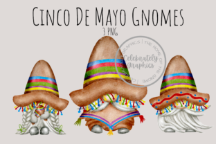 Print on Demand: Cinco De Mayo Gnomes Clipart PNG Graphic Illustrations By Celebrately Graphics