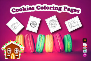 Cookies Coloring Pages Graphic Coloring Pages & Books Kids By Moonz Coloring