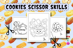 Cookies Scissor Skills Activity Book Graphic Coloring Pages & Books Kids By Moonz Coloring