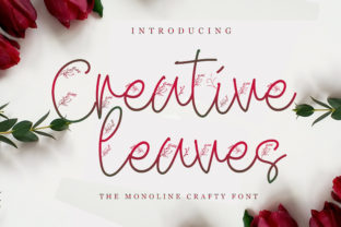 Print on Demand: Creative Leaves Script & Handwritten Font By handles creative