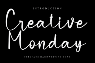Print on Demand: Creative Monday Script & Handwritten Font By Misterletter.co