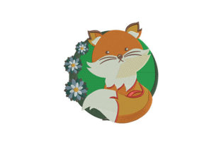 Cute Fox Baby Animals Embroidery Design By DigitEMB