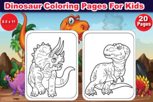 Dinosaur Coloring Pages for Kids Graphic Coloring Pages & Books Kids By Adib_24