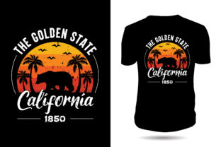 Print on Demand: Dog-California-typography-tshirt-design Graphic Print Templates By ui.sahirsulaiman