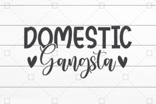 Domestic Gangsta Graphic Print Templates By SVGCrafts