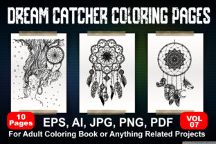 Dream Catcher Coloring Book Graphic KDP Interiors By passiveheroes