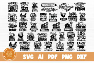 Print on Demand: Farm Life SVG Bundle Cut Files Graphic Crafts By VectorCreationStudio