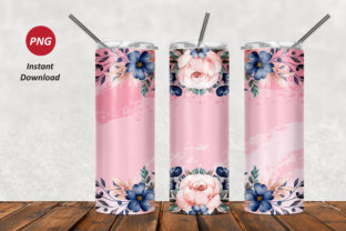 Floral 20oz Skinny Tumbler Graphic Patterns By Army Custom