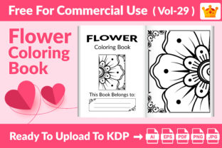 Flower Coloring Page KDP Interior Vol 29 Graphic KDP Interiors By Md Abu Saeid