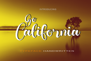 Print on Demand: Go California Script & Handwritten Font By kateengciu
