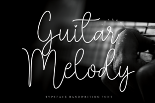 Print on Demand: Guitar Melody Script & Handwritten Font By Misterletter.co