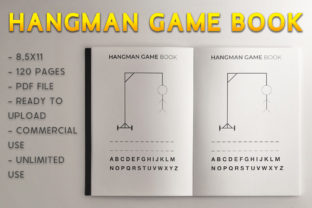 Print on Demand: Hangman Game Book KDP Template Graphic KDP Interiors By KDP Product