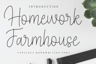 Print on Demand: Homework Farmhouse Script & Handwritten Font By Misterletter.co