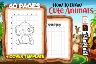 Print on Demand: How to Draw Cute Animals - Kdp Interior Graphic KDP Interiors By Kristy Coloring