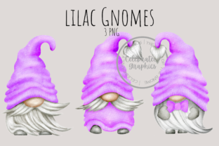 Lilac Gnomes Clipart PNG Graphic Illustrations By Celebrately Graphics