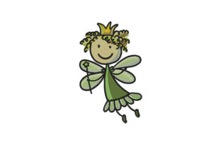 Little Fairy Sketch Fairy Tales Embroidery Design By DigitEMB