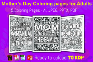 MOTHER'S DAY COLORING PAGES Graphic KDP Interiors By KDP Script