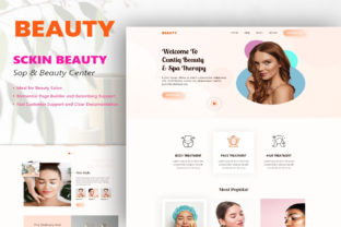 Print on Demand: Makeup and Beauty Landing Page Graphic Landing Page Templates By themesfusion