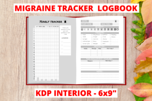 Migraine Tracker Logbook - KDP Interior Graphic KDP Interiors By Milly Niche Assets