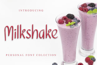 Print on Demand: Milkshake Script & Handwritten Font By giartstudios