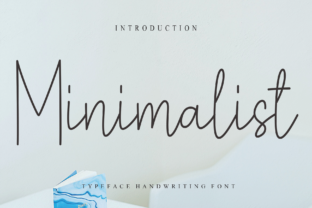 Print on Demand: Minimalist Script & Handwritten Font By Misterletter.co