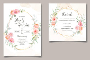 Modern Wedding Invitation Card Floral Graphic Print Templates By dinomikael01