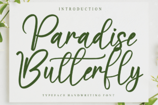 Print on Demand: Paradise Butterfly Script & Handwritten Font By Misterletter.co