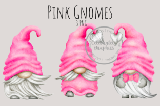 Pink Gnomes Clipart PNG Graphic Illustrations By Celebrately Graphics