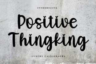 Print on Demand: Positive Thingking Script & Handwritten Font By FreshTypeINK