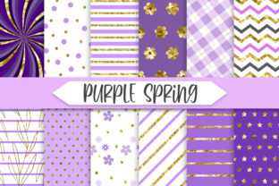 Print on Demand: Purple Spring Glitter Background Graphic Backgrounds By PinkPearly