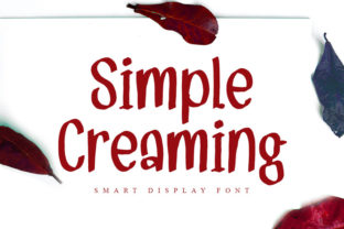 Print on Demand: Simple Creaming Display Font By FL Space