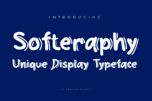 Print on Demand: Softeraphy Display Font By No Feeling Studio
