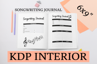 Print on Demand: Songwriting Journal | KDP Interior Graphic KDP Interiors By KDP Mastermind