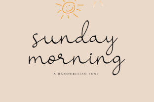 Print on Demand: Sunday Morning Script & Handwritten Font By najmustsaqib.creator