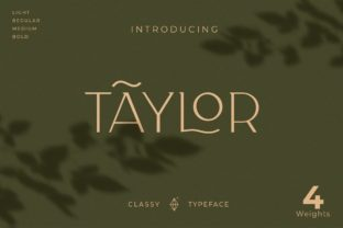 Print on Demand: Taylor Serif Font By creative.corner.62