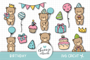 Print on Demand: Teddy Bear Birthday Party SVG Graphic Illustrations By Chonnieartwork