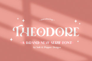 Print on Demand: Theodore Serif Font By Salt & Pepper Designs