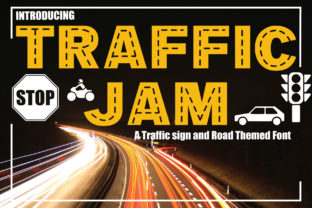 Print on Demand: Traffic Jam Display Font By KtwoP